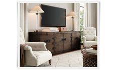 Rooms   Restoration Hardware - Love this piece of furniture under the tv
