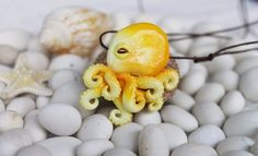 Octopus yellow  / pendant necklace jewelry / handmade polymer clay | Jewelry & Watches, Handcrafted, Artisan Jewelry, Necklaces & Pendants | eBay!