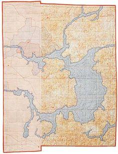 Beautiful! Leah Evans map quilt