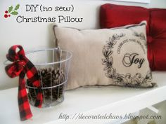 Decorated Chaos: How to Make a Place Mat Pillow