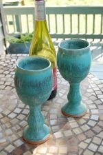 pretty turquoise goblets