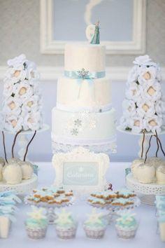 Frozen Winter Wonderland Birthday Party via Kara's Party Ideas KarasPartyIdeas.com Cake, printables, desserts, favors, food, and more! #frozen #frozenparty #winterwonderland #winterwonderlandparty #winterpartyideas (19)
