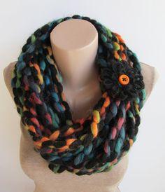 Colorful Chunky Chain Scarf