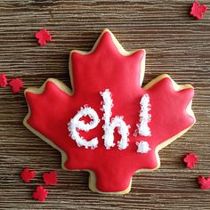 Happy Canada Day Maple Leaf Sugar Cookies. Eh!