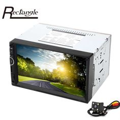 8001 GPS Navigation 7 inch Double Din 12V Car Multimedia MP5 Player Bluetooth Radio Support LRC Lyrics ID3 AM FM RDS with Camera