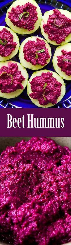 Colorful beet hummus made with red beets, tahini, lemon, and garlic. Great with pita chips or veggies! #healthy #paleo #vegan On SimplyRecipes.com