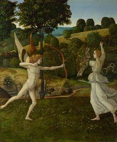 The Combat of Love and Chastity  probably 1475-1500, Gherardo di Giovanni del Fora