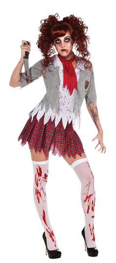 Zombie School Girl Adult Womens Costume