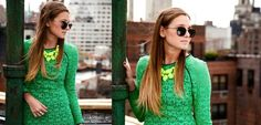 COLORED LACE #trending— with Danielle Bernstein #walterbaker