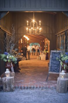 Love This Entrance To The Reception And The Lighting