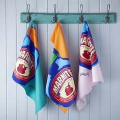 Set of 3 Marmite Tea Towels from Rigby & Mac Ed in London UK Cute Gifts, Baby Gifts, Marmite, Annie Sloan Chalk Paint, Modern Country, Ideal Home, Kitchen Accessories, Tea Towels, Sweet Home