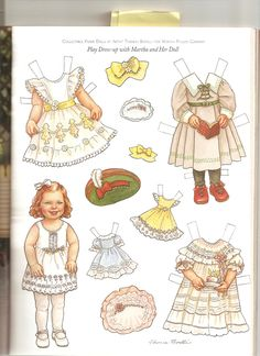 Martha and Her Doll 1 artist Theresa Borelli for Martha Pullen Company in Sew Beautiful Magazine