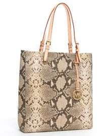 MICHAEL Michael Kors Jet Set Python-Embossed Tote - I love my handbag! It matches everything and holds ALL of my stuff:)