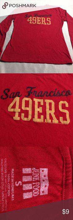 NFL SAN FRANCISCO 49ERS TOP by JUNK FOOD Excellent NFL SAN FRANCISCO 49ERS TEAM TOP Excellent Condition Size S Women's Junk Food Tops Tees - Long Sleeve