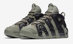The Nike Air More Uptempo Dark Stucco edition is featured in its official imagery and it's dropping this Fall 2017.
