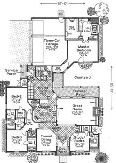 Bedroom Bath House Central Courtyard Floor Plan on house floor plans with 2 master suites, house floor plans in color, house plans 3 bedroom 2 bath with garage, 3 bedroom 2 bath ranch house floor plan, 4 bedroom house kerala floor plan, house plans 1 bedroom apartment, house plans with his and her master bathrooms, ancient roman bath house floor plan, house plans with 4 bedrooms upstairs, 3 bedroom 2 car garage house floor plan,