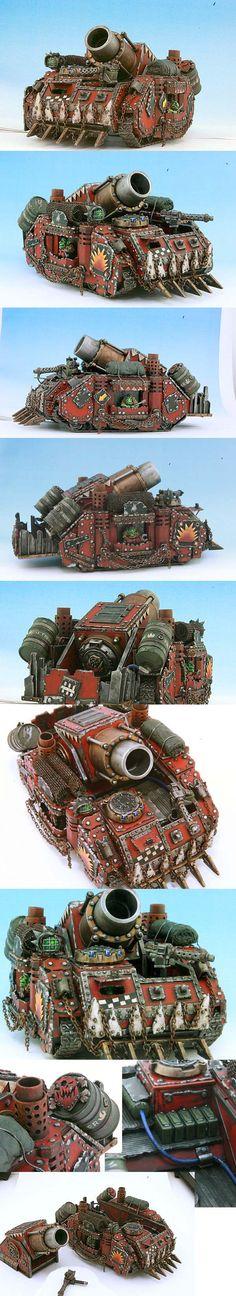 Ork Looted Wagon w/Boom Gun - 40k, Kustom