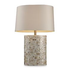 DIMOND LIGHTING Trump Home Sunny Isles Mother Of Pearl Table Lamp $220 PICK UP OR SHIPS FREE PURCHASE HERE: http://beachhippiehome.mybigcommerce.com/dimond-lighting-luzerne-mother-of-pearl-table-lamp-220/