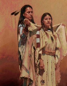 native man and woman