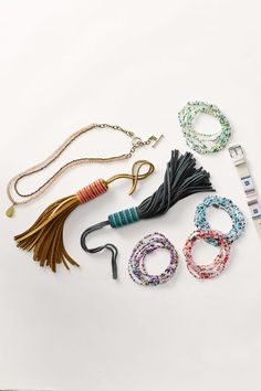 The Fossil x ME to WE collection celebrates color, craftsmanship and one-of-a-kind jewelry. Our newest collection features beaded bracelets, necklaces, watch straps and tassel leather bag charms.