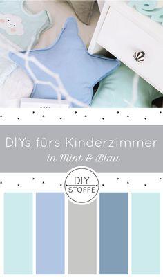 DIYs für ein zauberhaftes Kinderzimmer/ Babyzimmer in Mint und Blau bei diy-stoffe.de