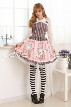 26f870db5f843 Sleeveless Knee-length Pink Princess Dress Sweet Lolita Dress Customize