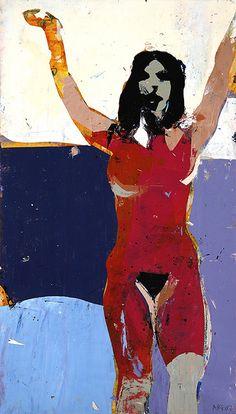 "Kim Froshin ""Amendment"" 2007  Media: heavy body acrylic, on paper  Dimensions: 6 1/8 x 10 5/8"""