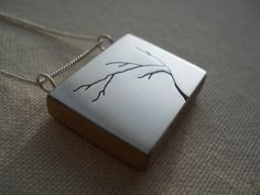 contemporary modern silver and cherry tree by johnathandesignz, $78.00