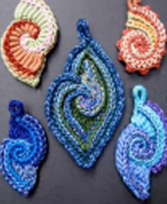 Freeform Crochet Spirals for Jewellery or Embellishments