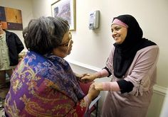 Dr. Reshma Khan (on right), a gynecologist, has opened a free clinic for uninsured women in South Carolina. She envisions the new clinic to be a very real example of the public service tenet of Islam.