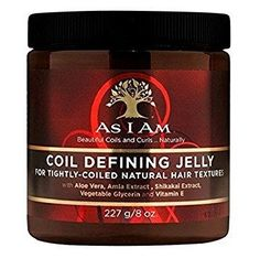 As I Am - COIL DEFINING JELLY For Defining Tightly-Coiled Natural Hair Textures 8oz