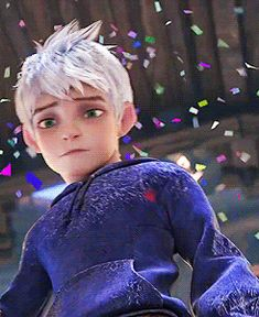 Jack's face when he sees the shoes the elves presented him.