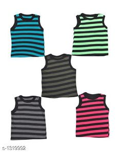 Innerwear Stylus Kid's Cotton Vest (Pack Of  5) Fabric: Cotton Sleeves: Sleeves Are Not Included Size: Age Group (0 Months - 3 Months) - 10 in Age Group (3 Months - 6 Months) - 12 in Age Group (6 Months - 9 Months) - 12 in Age Group (9 Months - 12 Months) - 14 in Age Group (12 Months - 18 Months) - 16 in Age Group (18 Months - 24 Months) - 18 in Age Group (2 - 3 Years) - 20 in Age Group (3 - 4 Years) - 22 in Age Group (4 - 5 Years) - 24 in Type: Stitched Description: It Has 5 Pieces of Kids Vest Work: Printed Country of Origin: India Sizes Available: 0-3 Months, 0-6 Months, 3-6 Months, 6-9 Months, 6-12 Months, 9-12 Months, 12-18 Months, 18-24 Months, 0-1 Years, 1-2 Years, 2-3 Years, 3-4 Years, 4-5 Years, 5-6 Years   Catalog Rating: ★4.1 (520)  Catalog Name: Kidstar Stylus Kid's Cotton Vest Vol 1 CatalogID_169043 C59-SC1187 Code: 871-1319992-633