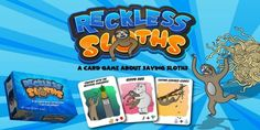The New Reckless Sloths Board Game Pictures Of Sloths, Cute Pictures, 123 Cards, Tickle Fight, Create A Board, Board Games For Kids, Snack Recipes, Snacks, Game Calls