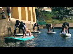More Pilates on an Stand up Paddling (SUP) board