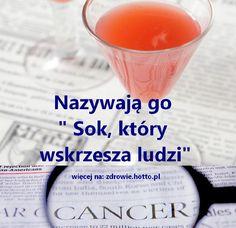 """Ten niesamowity sok o którym mówią, że """"Sok, który wskrzesza ludzi"""" polecany jest od dawna osobom: - cierpiącym na raka, zwłaszcza po chemioterapii, ponieważ - wzmacnia układ odpornościowy, - poprawia morfologię krwi i - przywraca energię. Można pić go, gdy czujesz się: - zmęczony lub - w depresji i jako - środek zapobiegawczy. Sok jest łatwy do przygotowania i ma tylko jedną wadę – może niektórym wydać się niezbyt smaczny. Jednak korzyści jakie daje wykraczają daleko poza kwestie s... Healthy Juice Drinks, Healthy Juices, Smoothie Drinks, Smoothies, Healthy Beauty, Health And Beauty, Healthy Life, Alkaline Foods, Polish Recipes"""