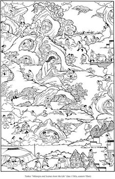Tibetan Design Coloring Page