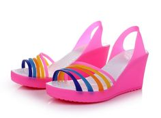 jelly+shoes   Jelly shoes platform wedge sandals affordable youth shoes