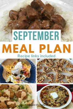 Our early Fall Meal Plan includes Crockpot recipes for Sunday dinner, dessert ideas with recipes once a week and premeditated leftovers one night each week. Sunday Recipes, Fun Easy Recipes, Fall Recipes, Easy Meals, Dinner Dessert, Dessert Ideas, Pork Tenderloin Side Dishes, Pork Recipes, Crockpot Recipes