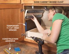 How to Build Kitchen Sink Storage Trays Kitchen Cabinet Storage Solutions: DIY Pull Out Shelves The post How to Build Kitchen Sink Storage Trays appeared first on Stauraum ideen. Cheap Kitchen Cabinets, Kitchen Cabinet Storage, Storage Cabinets, Kitchen Sinks, Kitchen Furniture, Diy Pull Out Shelves, Under Sink Storage, Extra Storage, Carpentry Tools