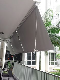 Roller Blinds Outdoor - All About Balcony Outdoor Curtain Rods, Outdoor Drapes, Small Balcony Decor, Tiny Balcony, Apartment Balcony Decorating, Condo Decorating, Pergola Design, Balcony Design, Outdoor Roller Blinds