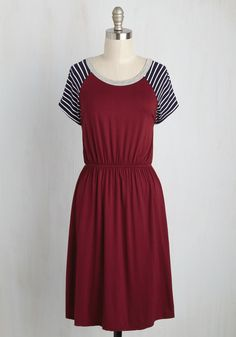 Campus Champion Dress in Burgundy, #ModCloth