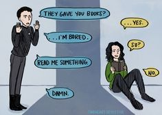 Cartoon: Benedict Cumberbatch's John Harrison Meets Tom Hiddleston's Loki