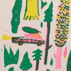 Coniferous Screenprint - Nicholas Stevenson