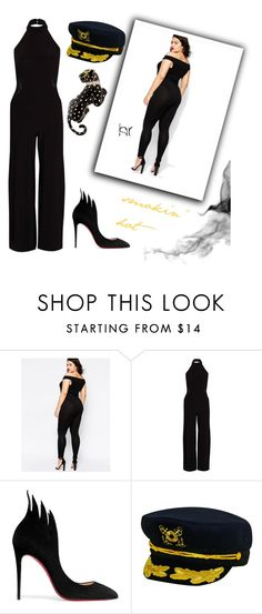 """""""hot jumpsuit"""" by marypaulson5 ❤ liked on Polyvore featuring ASOS Curve, Rare London, Christian Louboutin, Dorfman Pacific, David Webb and sleevelessjumpsuits"""