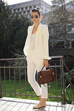 Zara White Blazer - $77.00