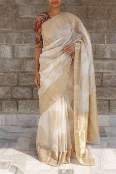 Off White Vivikta Maheshwari Saree