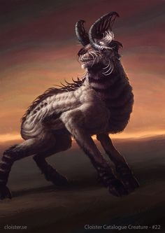 Emphaerian Goat - creature concept by Cloister.deviantart.com on @DeviantArt