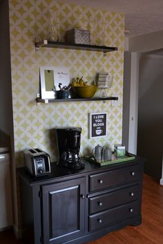 Coffee Tea Station Chic Es For Little Faces Bar Home