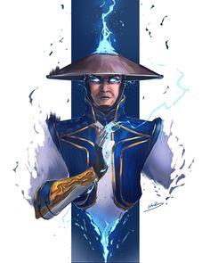 Raiden Mortal Kombat, Scorpion Mortal Kombat, Mortal Kombat Art, Fantasy Artwork, Akira Poster, Mortal Kombat X Wallpapers, Videogames, Famous Warriors, Ninja Art
